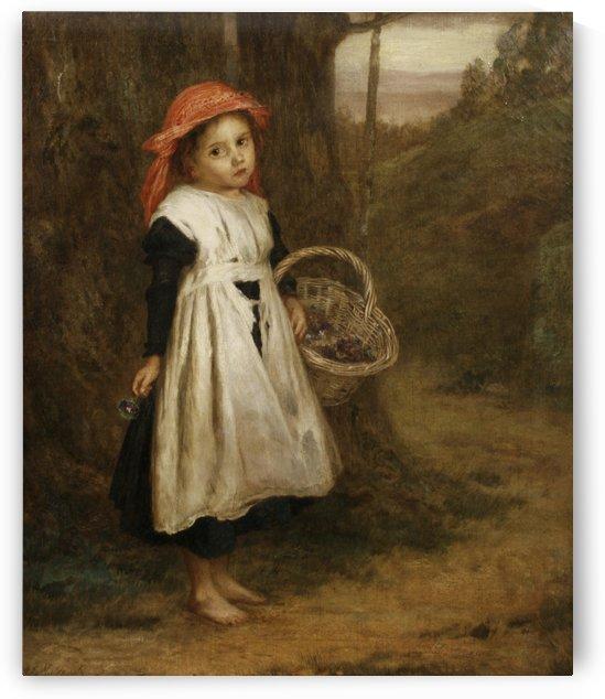 A Little Violet Seller 1877 by Augustus Edwin Mulready