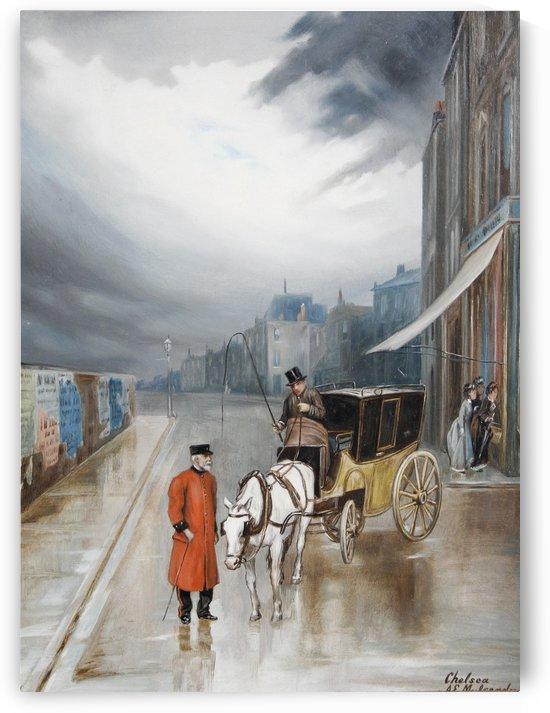 After rain - Chelsea by Augustus Edwin Mulready