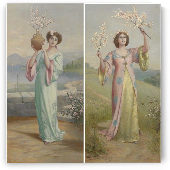 Two youg fairies by Augustus Edwin Mulready