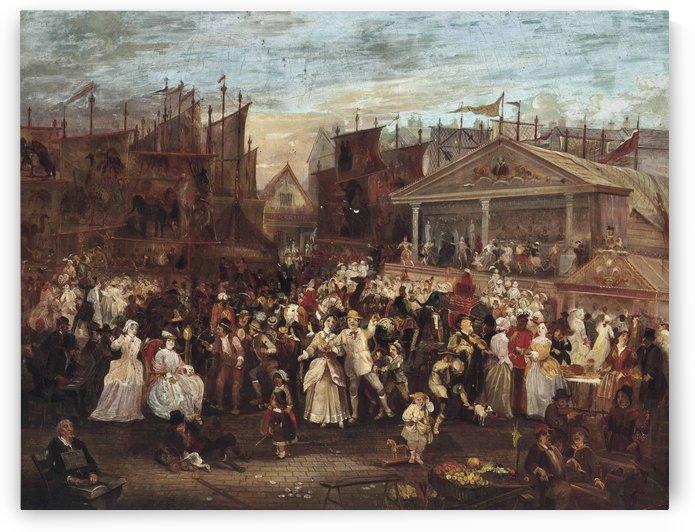 Greenwich fair by Augustus Edwin Mulready