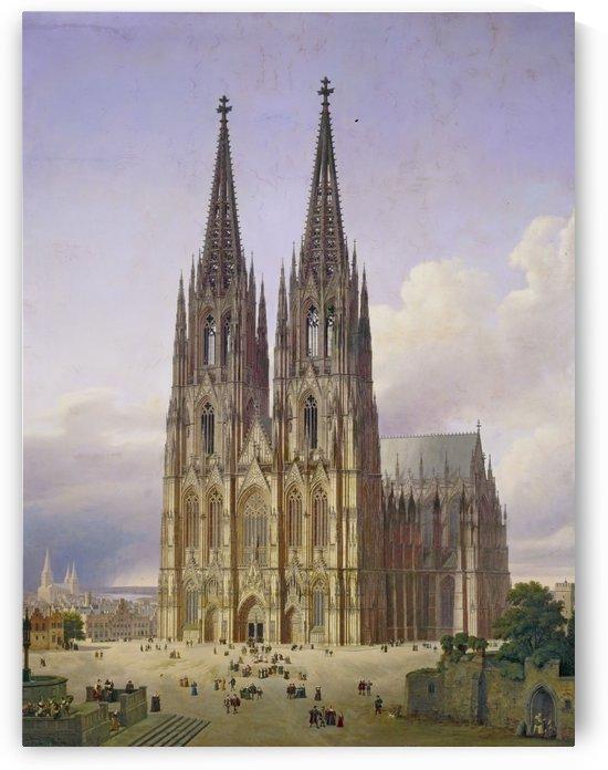 Idealansicht des Kolner Doms by Carl Hasenpflug