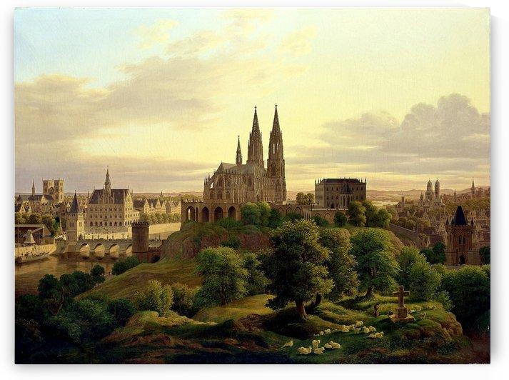 Una ciudad medieval by Carl Hasenpflug