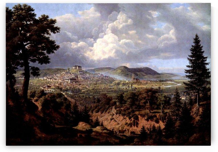 Marburg, Ansicht von Sudosten by Carl Hasenpflug