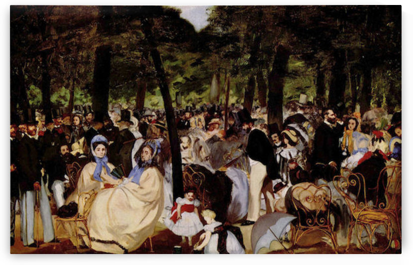 Music in Tuilerie Garden by Manet by Manet