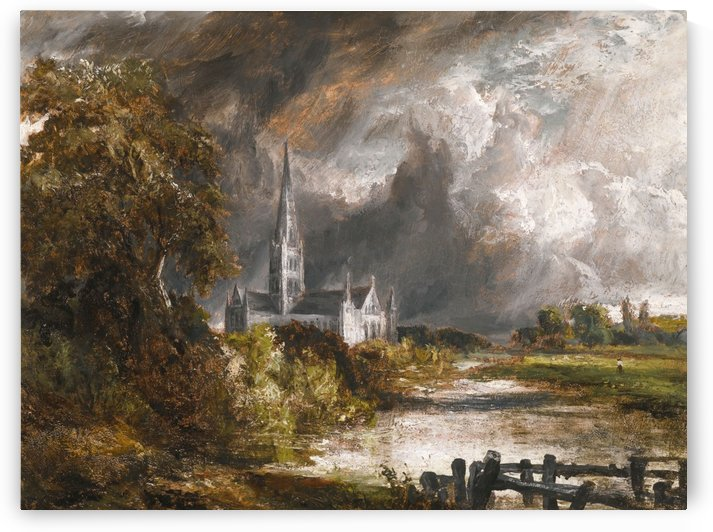 A castle in the fog by John Constable