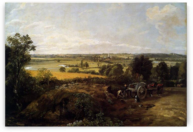 The Stour-Valley with the Church of Dedham by John Constable