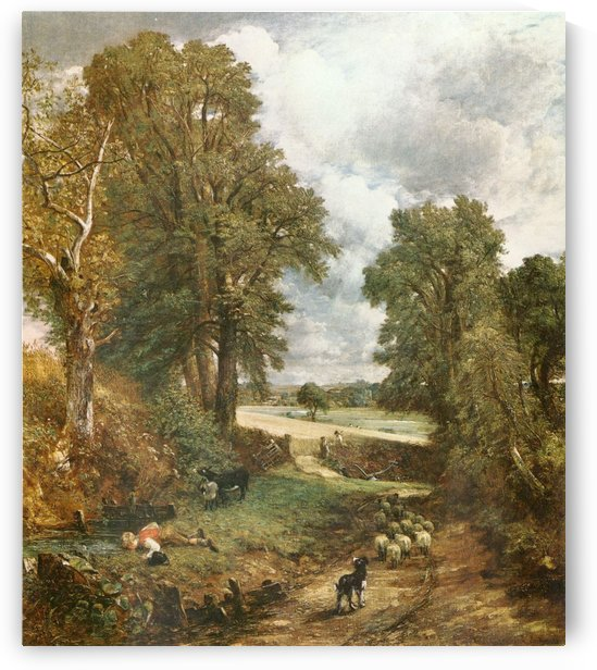 A heard of sheep through the woods by John Constable