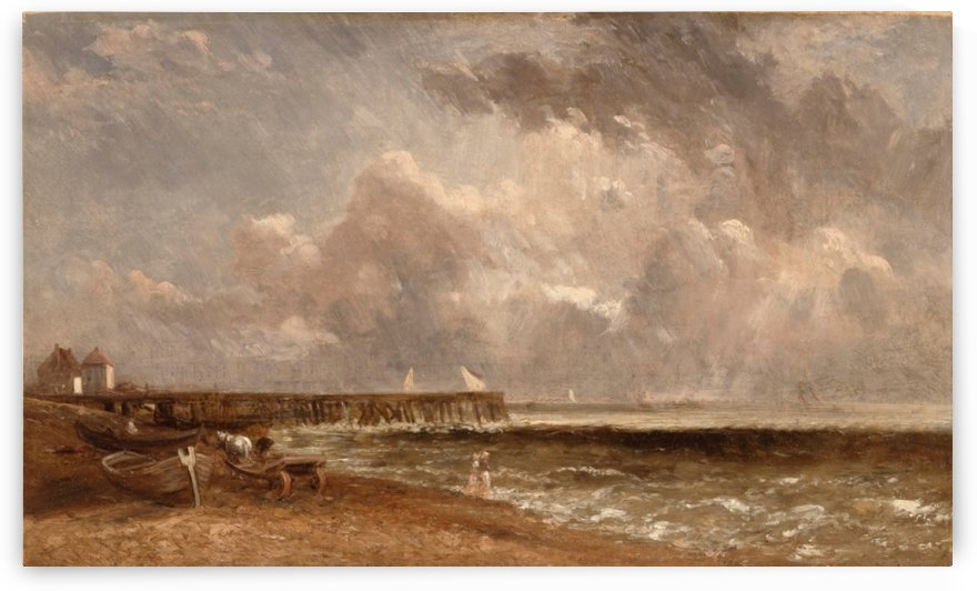 View of a port by John Constable