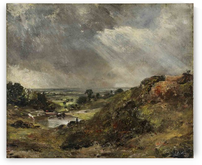 Branch Hill Pond, Hampstead, 1819 by John Constable