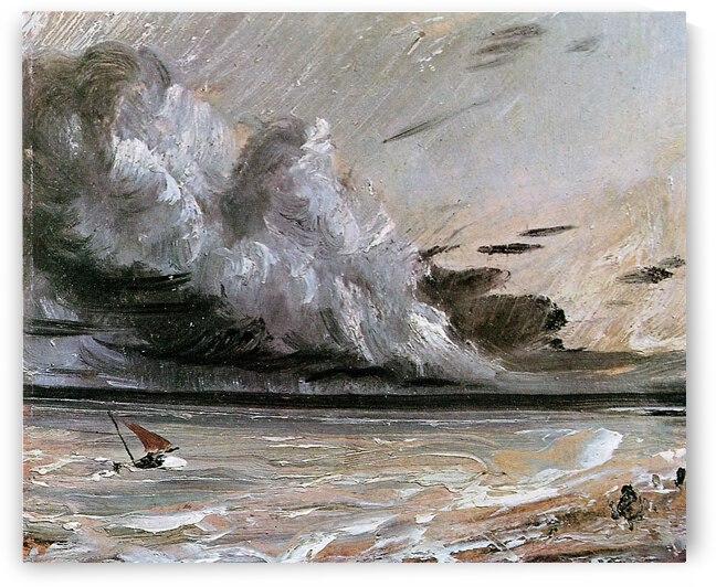 Breaking cloud sun by John Constable