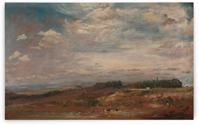Hampstead Heath with Bathers by John Constable