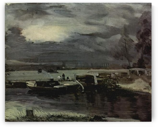 Boats on the stour by John Constable