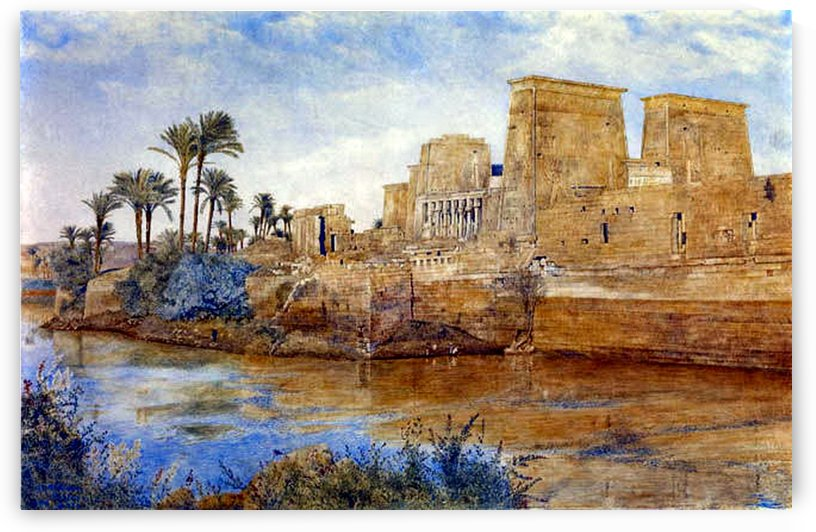 Philae from the Island of Biggeh, 1894 by Henry Roderick Newman