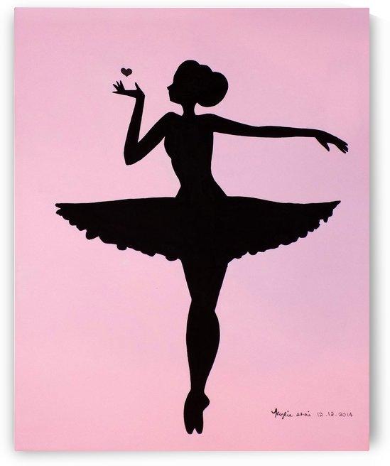 Ballerina Sillhouette (Pink by Kylie Shai