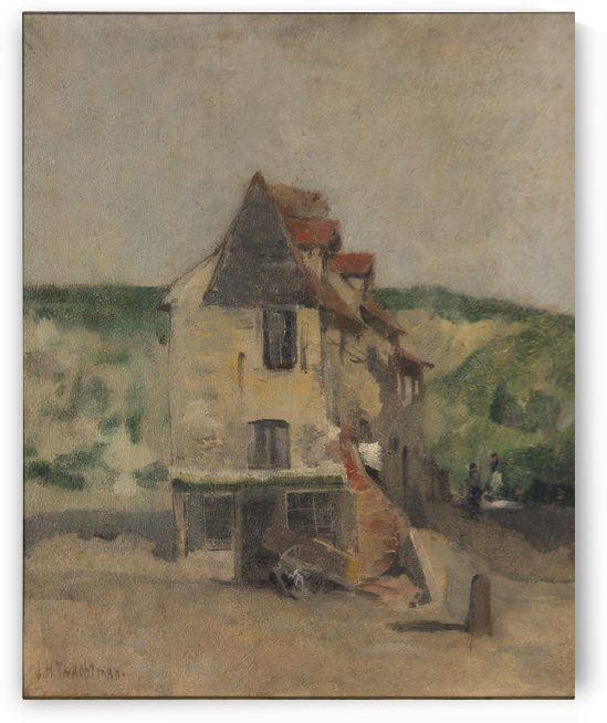 A farmhouse by Henry Roderick Newman