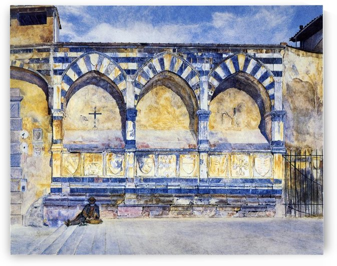 The Three Arches of Santa Maria Novella by Henry Roderick Newman
