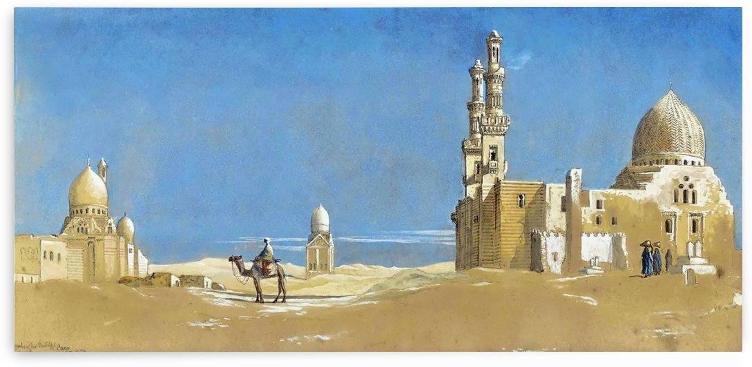 The Tombs of the Cailiffs, Cairo 1872 by Charles Robertson