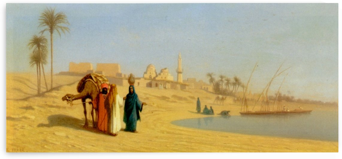 The Banks of the Nile by Charles-Theodore Frere