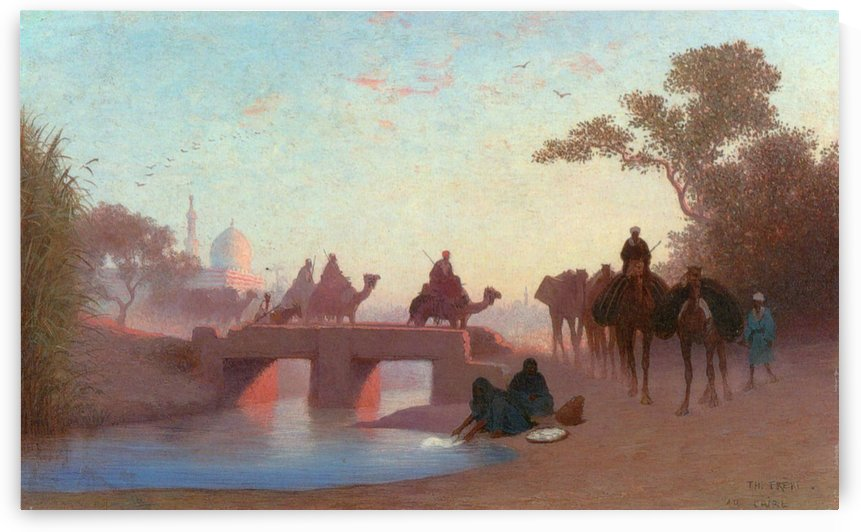 Environs du Caire by Charles-Theodore Frere