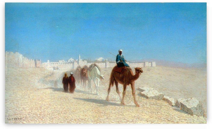 Jerusalem Cote de la Porte de Jaffe by Charles-Theodore Frere
