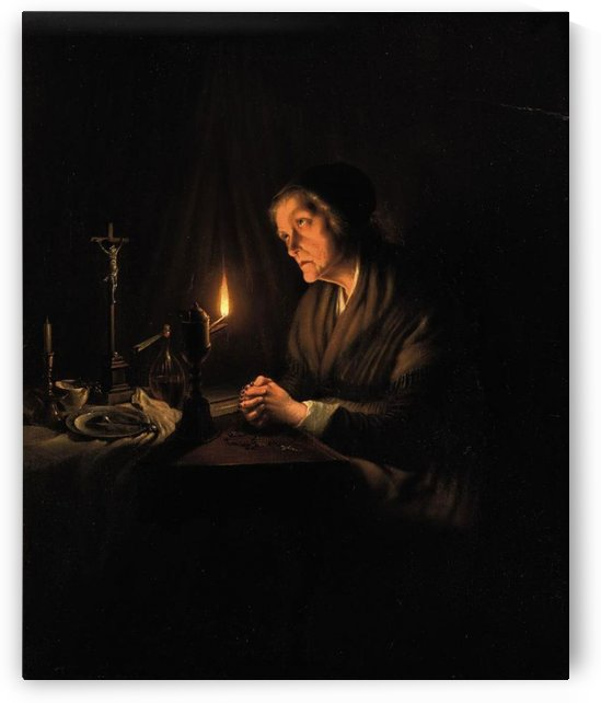 The evening prayer by Charles-Theodore Frere