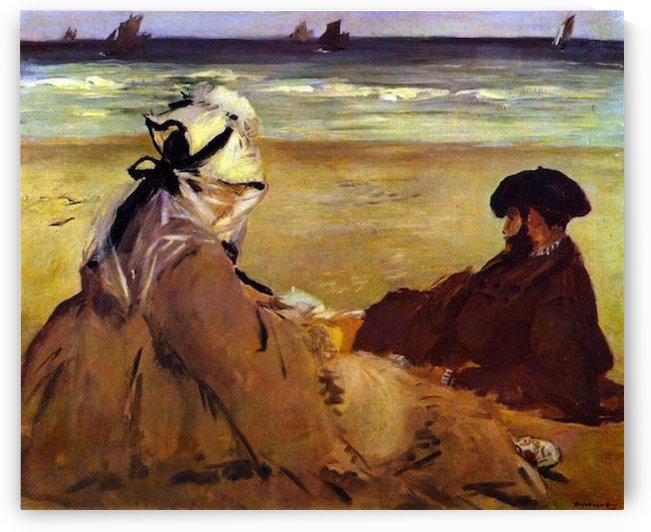 On the beach by Edouard Manet by Edouard Manet