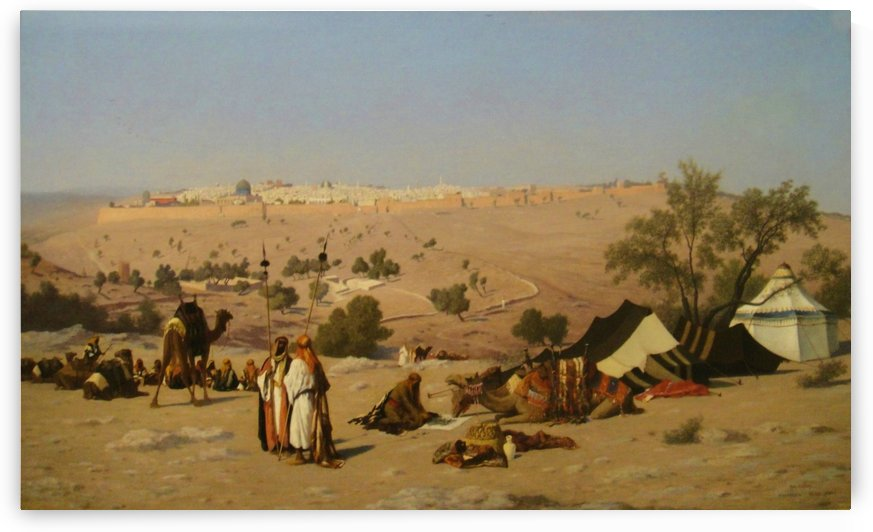 Jerusalem from the Environs by Charles-Theodore Frere