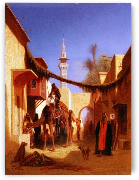 Street in Cairo by Charles-Theodore Frere
