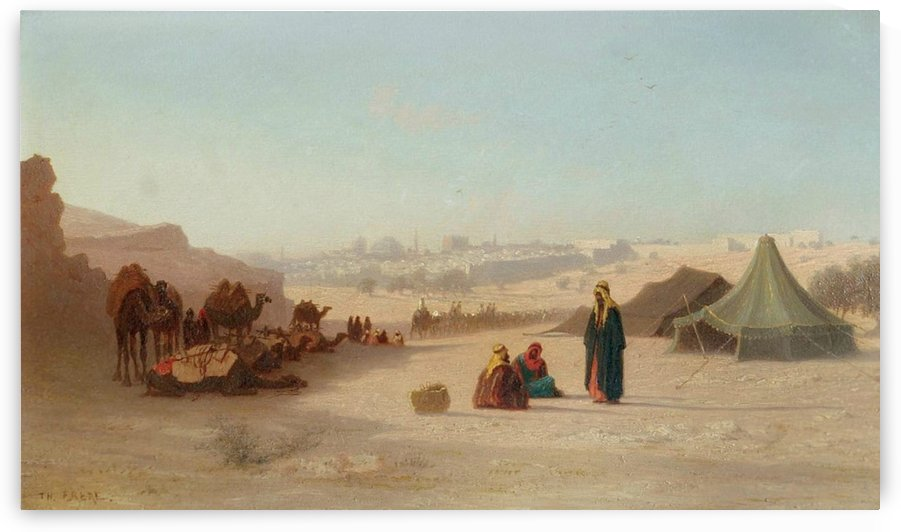 View of Jerusalem from the North, facing Damascus Gate by Charles-Theodore Frere