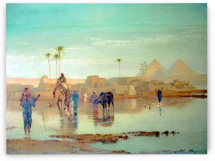 Nile overflow by Charles-Theodore Frere