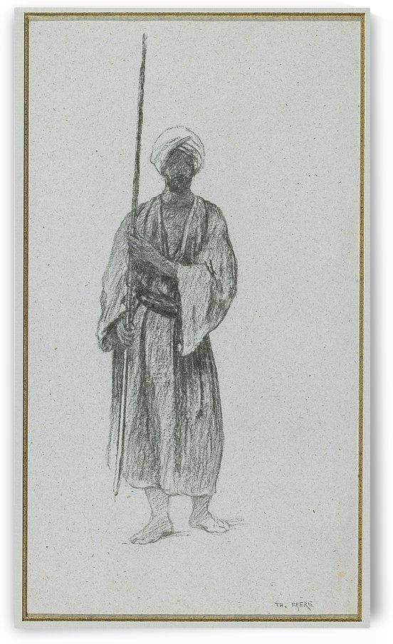 Arab sentinel by Charles-Theodore Frere
