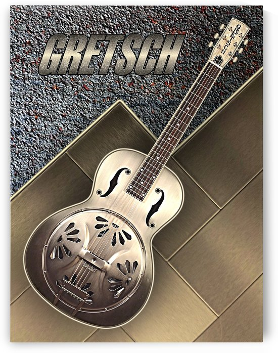Old  Gretsch Acoustic Resonator   by shavit mason