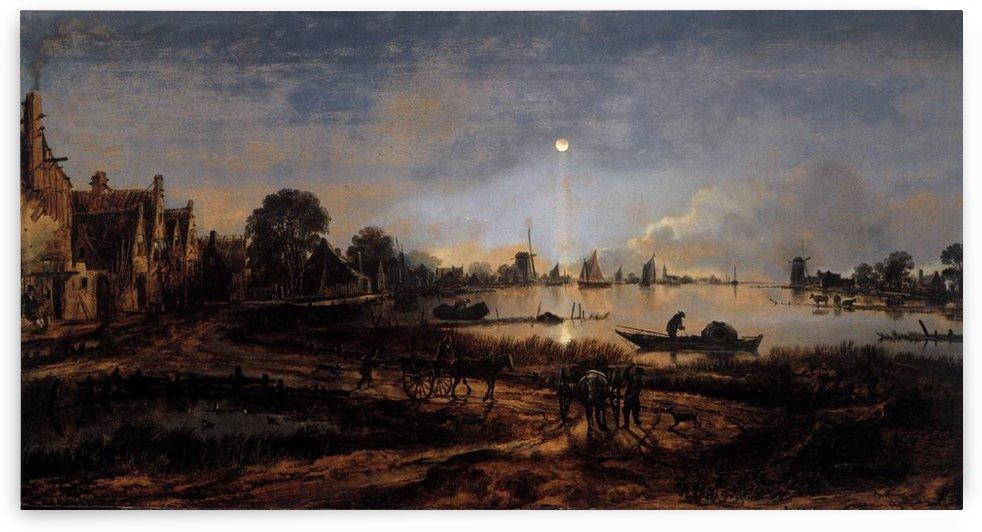View by Moonlight by Aert van der Neer