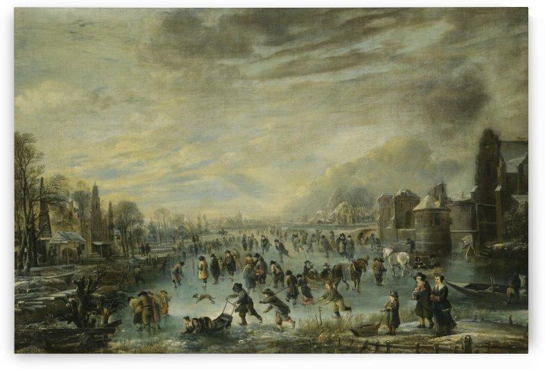 Skaters by Aert van der Neer