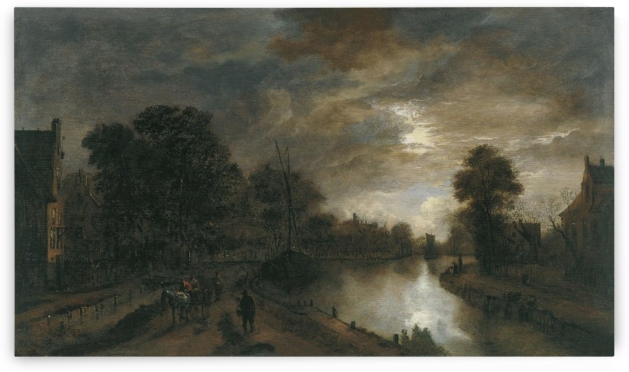 Landscape with a Road beside a Canal by Aert van der Neer