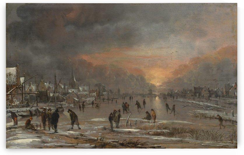 Sports on a Frozen River by Aert van der Neer