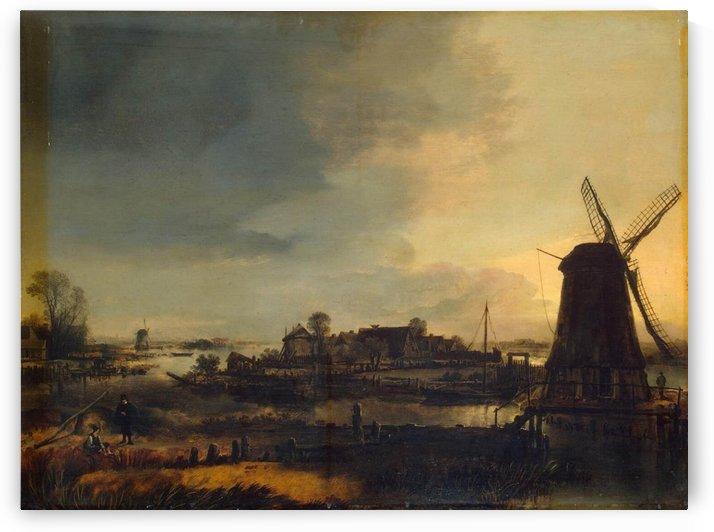 Landscape with Windmill by Aert van der Neer
