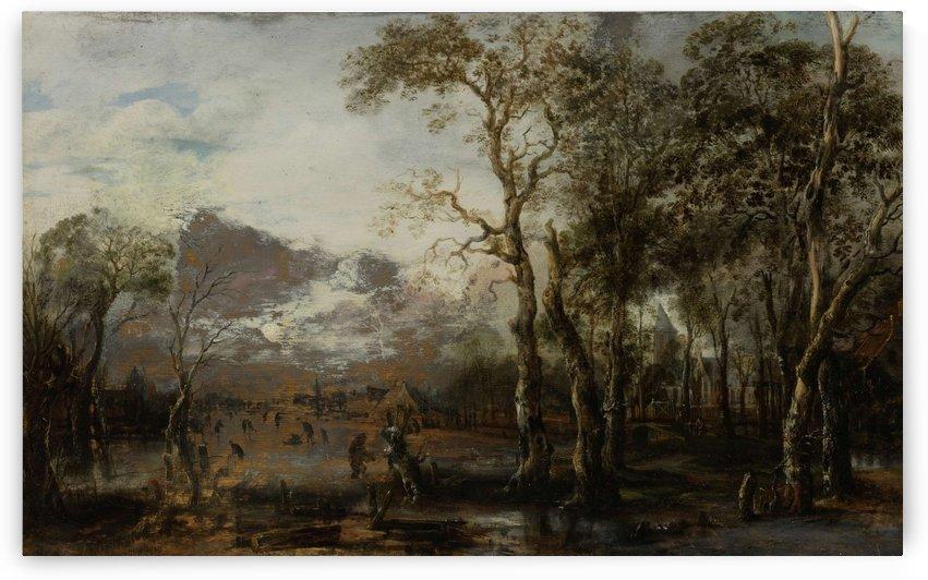 Landscape with hunter by Aert van der Neer