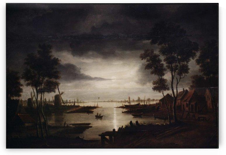 Clair de lune by Aert van der Neer
