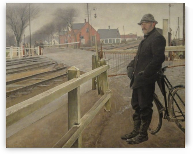 Waiting for the train by Laurits Andersen Ring