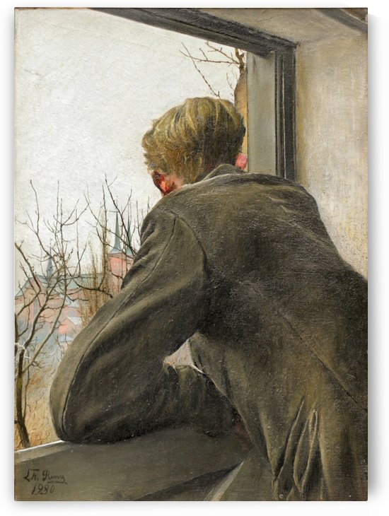 Ole Looking out of the Window by Laurits Andersen Ring