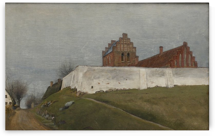Houses on a tall place by Laurits Andersen Ring