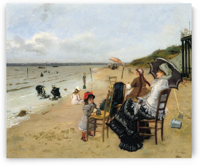People on a beach by Laurits Andersen Ring