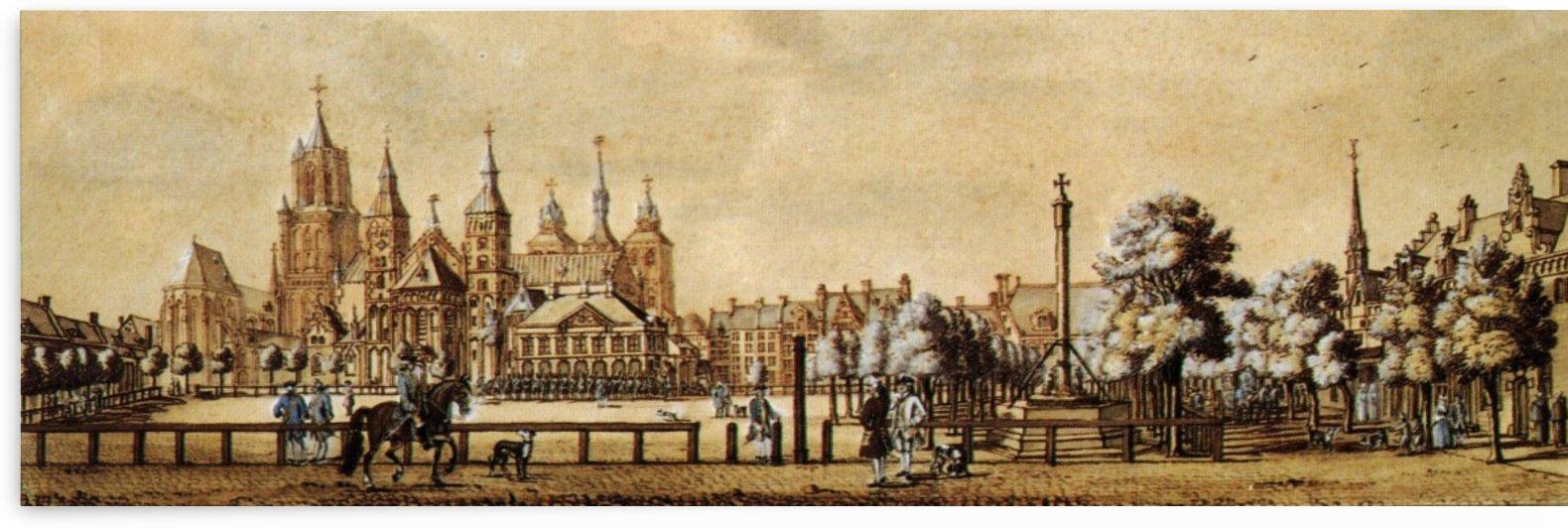 Vrijthof, Maastricht, 1750 by Jan de Beijer