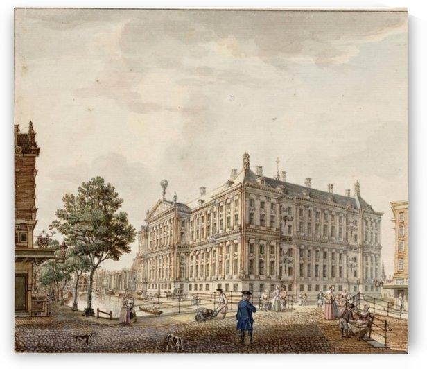 People walking in the city square by Jan de Beijer