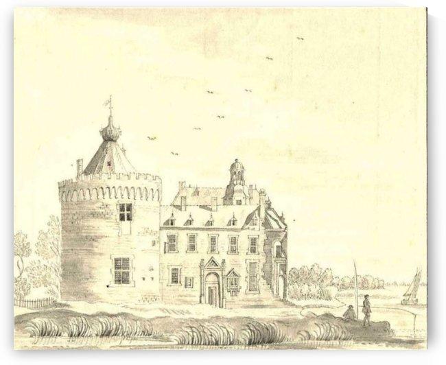 Children in front of the castle by Jan de Beijer