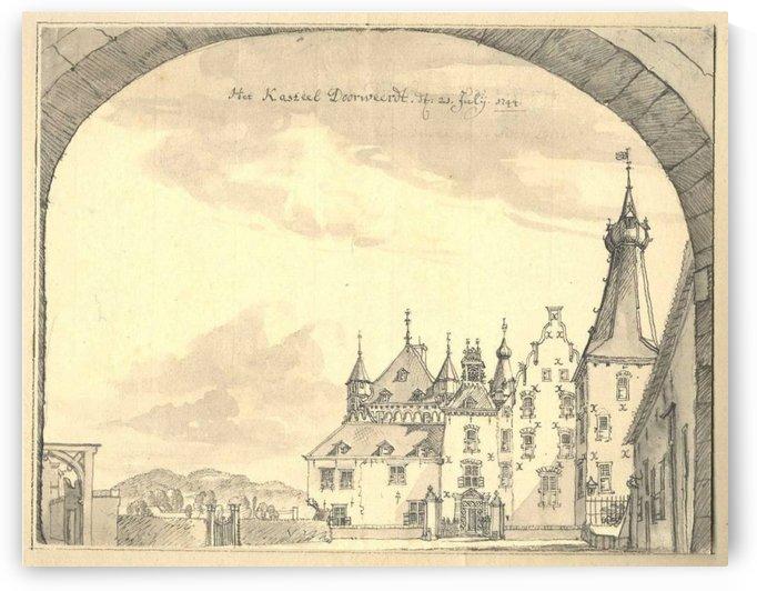 Kasteel Doorwerd 1744 by Jan de Beijer