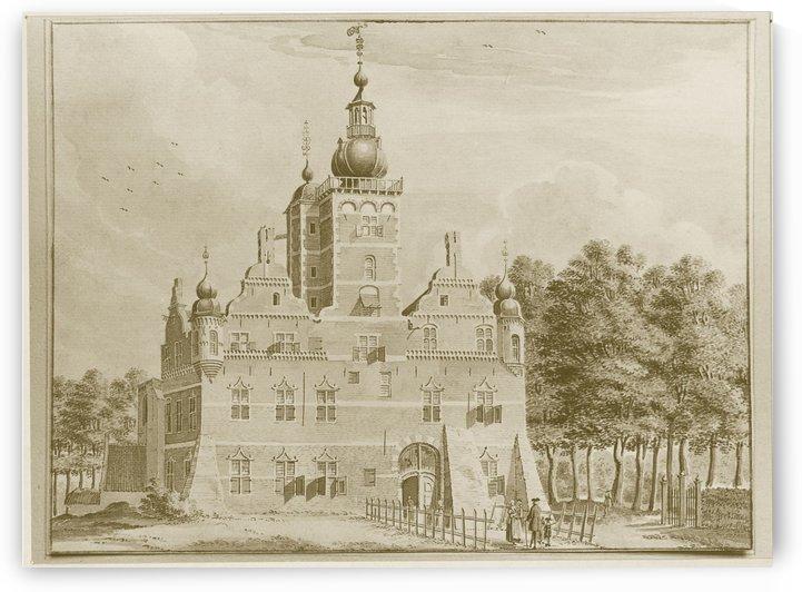 People entering a castle by Jan de Beijer