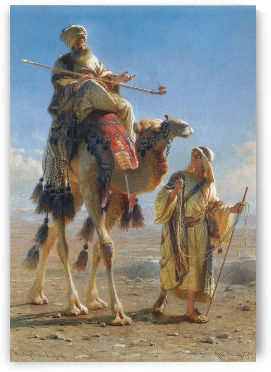 Riding the camel by Carl Haag