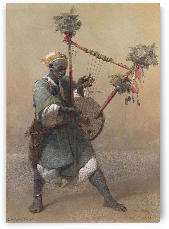 A Nubian harper by Carl Haag